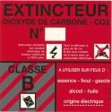 SICLI Panneau classe de feu B CO2 4001