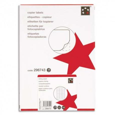 Etiquette Eco 5* - Boîte de 1600 étiquettes blanches copieur dimensions 105x37 mm