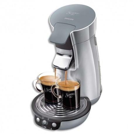 SENSEO Cafetière Viva café 1450W, capacité 1,2L soit 8 tasses - Dim. L19 x H34 x P30 cm coloris argenté