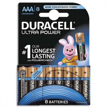 DURACELL Blister de 8 piles Alcalines 1,5V AAA LR03 Ultra Power Duralock