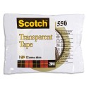 Ruban adhésif transparent Scotch 550 12mm x 66m en sachet individuel