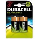 DURACELL Blister de 2 accus rechargeables 1,2V C/HR14 2200mAh