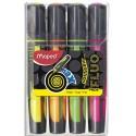 Surligneur Maped Fluo'Peps MAX, coloris assortis pochette de4