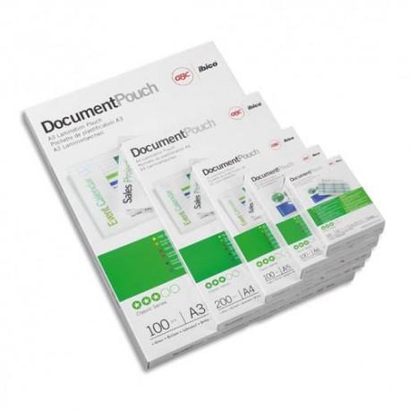 Plastification A4 - Boîte de 100 Pochettes à plastifier 125 microns par face soit 250 microns GBC 3200723