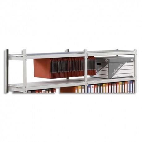 PAPERFLOW Lot de 6 plateaux Isorel pour rayonnage Rang'Eco - Longueur 100 cm, profondeur 37 cm