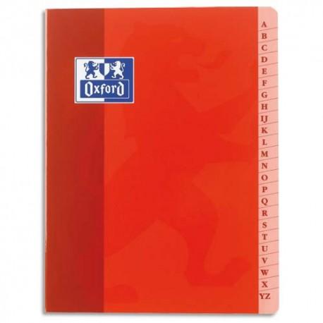 Cahier répertoire reliure piqûre format 17x22 cm 96 pages grands carreaux papier 90g Super Conquérant