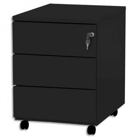 VINCO Caisson mobile 3 tiroirs - Dimensions : L41,7 x H56,5 x P54,1 cm noir