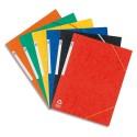 Chemises 3 rabats Elba - Chemise à élastiques en carte lustrée 390g. Coloris assortis 6 couleurs.