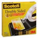 Ruban adhésif double face Scotch 666 pour assemblage définitif 19 mm x 33 mètres en boîte individuelle