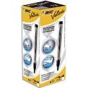 Marqueur effaçable tableau blanc à sec encre liquide noire+1 bille cristal STYLUS noir boite de 12 Bic Velleda Pocket