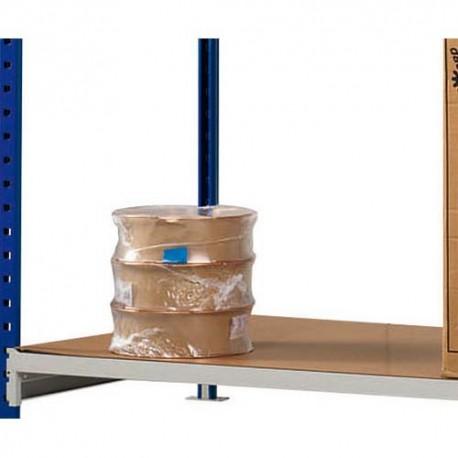 PAPERFLOW Lot 3 plateaux pour rayonnage Rang'Eco + Dimensions L100 x H3 x P60 cm coloris bois