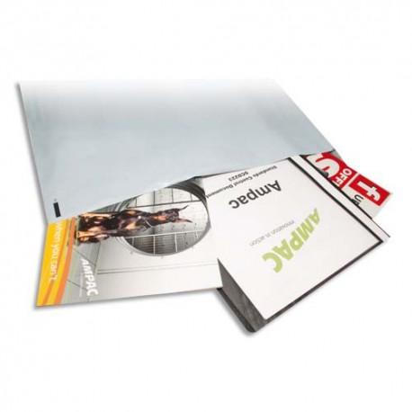 KEEPSAFE Boîte de 100 pochettes standards en polyéthylène Extra - Format 46 x 43 cm blanches
