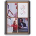 Vitrine d'intérieur NOBO format 9 feuilles A4 fond liège Pacific II 75,2 x 100 x 3,7 cm