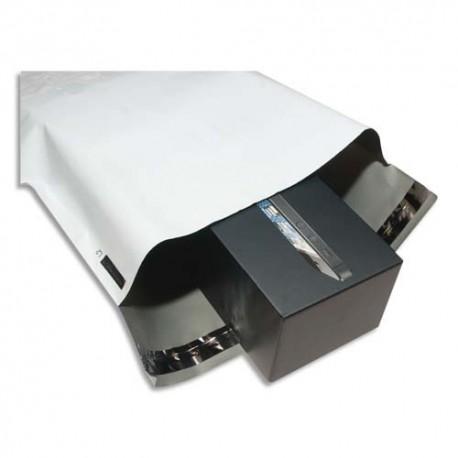 KEEPSAFE Boîte de 50 Pochettes Bulles en polyéthylène Extra - Format 35 x 47 cm blanches