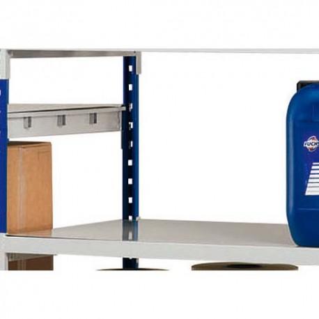 PAPERFLOW Lot 3 plaques pour rayonnage Rang Eco + en métal - Dimensions L100 x H7 x P60 cm coloris acier