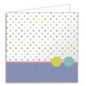 POLLEN Sachet de 10 cartes doubles 210g 13,5x13,5cm doublure Pois