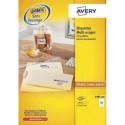 Etiquette AVERY 3485 - Boîte de 2400 étiquettes blanches multi usages dimensions 50 x 50 mm (3485-100)
