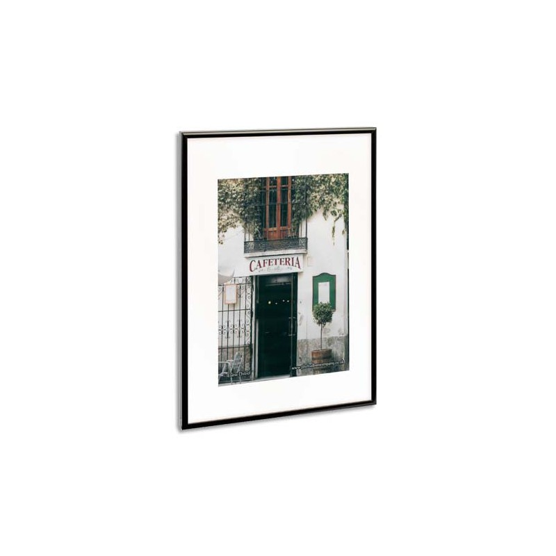 photo album company cadre photo contour alu noir plaque transparente incassable format 70x100. Black Bedroom Furniture Sets. Home Design Ideas