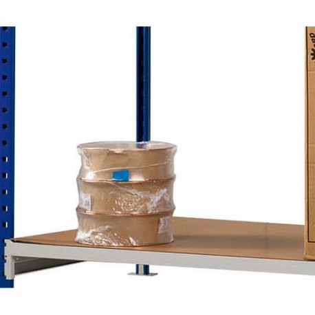 PAPERFLOW Lot 3 plateaux pour rayonnage Rang'Eco + Dimensions L100 x H3 x P80 cm coloris bois