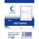 ELVE Bloc facture 50 feuillets simples 105x140 mm
