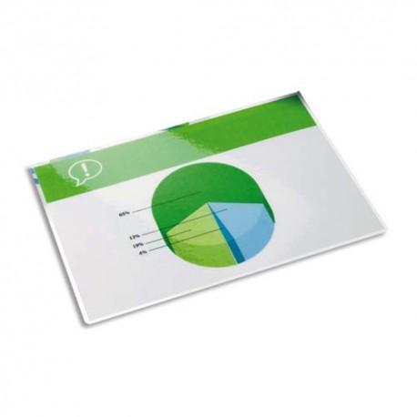 Plastification A5 - Boîte de 100 pochettes à plastifier 80 microns par face soit 160 microns Eco 5*