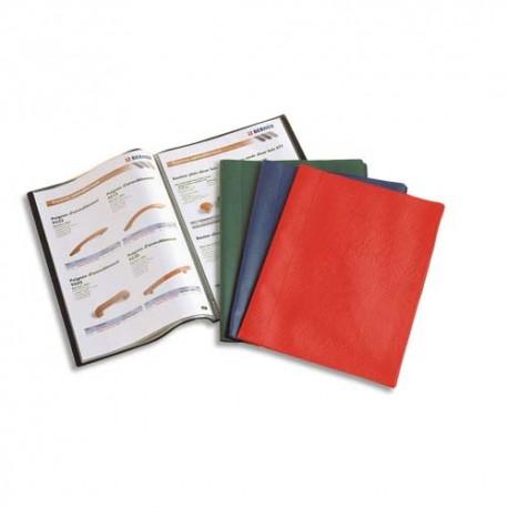 Porte vues ELBA - Protège-documents Hunter couv. en PVC 34/100e pochettes en polypropylène 6/100e noir