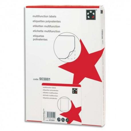 Etiquette Eco 5* - Boîte de 6500 étiquettes laser, jet d'encre, copieur blanches dimensions 38x21,2mm